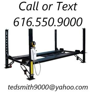New 8 000 Lbs Xlt 4 Post Auto Lift 15 Longer 10 Taller Complete Package