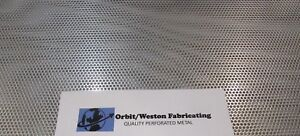 1 8 Holes 11 Ga 1 8 Thick 304 Stainless Steel Perforated Sheet 12 X 24