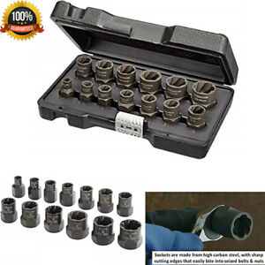Bolt And Nut Extractor Set Impact Wrench Tools Remover Damaged Rusted Socket 13p