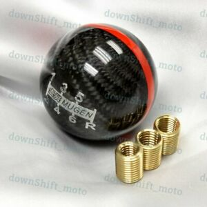 Carbon Fiber Jdm Mugen Shift Knob 6 Speed For Honda Civic S2000 Wrx Sti Evo Fr s