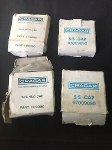 Nos Set Ss Super Sport Cragar Chrome Center Caps Vintage Packaging