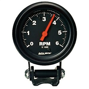 Autometer 2891 Performance Tachometer 2 5 8 6000 Rpm Blk