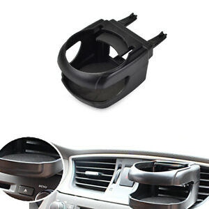Black Car Drink Holder Air Vent Mount Abs Cup Stand Universal For All Vehicles