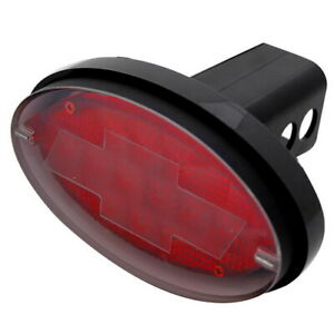 Official Licensed Chevy Brake Tail Light Led Light Tow Hitch Cover 2 Receiver