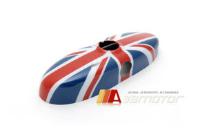 Red Union Jack Uk Flag Rear View Mirror Cover For Mini Cooper R55 R56 R57 R59