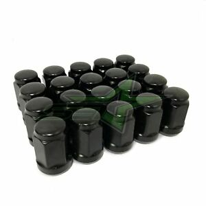 20 Black Lug Nuts 14x1 5 Dodge Challenger Charger Hellcat Chevy Camaro Ss Zl1