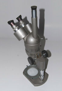 Olympus Microscope Stereoscope With Camera Port