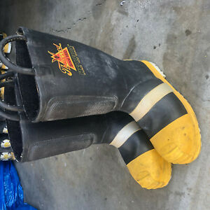 Turnout Boots Firefighter Thorogood Hellfire Sz 8 5 Wide