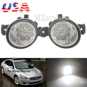 2x Led Fog Light For Nissan Maxima 2007 2014 Sentra Replacement Bumper Lamp Us