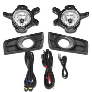 Clear Bumper Lamps Driving Fog Lights Switch Bezels For 2011 2014 Chevy Cruze