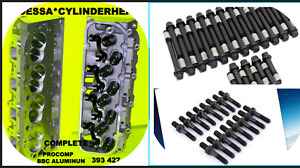 2 New Gm Procomp Bbc Chevy Aluminum Cylinder Heads 396 427 454 Head Bolts