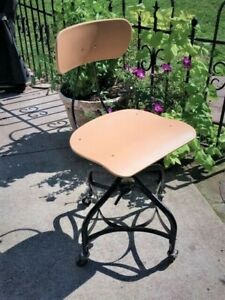 Vintage Industrial Drafting Chair By Toledo Metal Furniture Co 6 Matching Avail