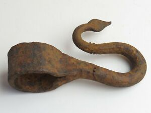 Antique Hand Wrought Iron Tool Hook Old Primitive Curtain Tieback Kitchen Farm