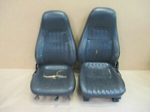 00 02 Camaro Rs Ss Z28 Ebony Leather Front Seat Seats 0526 15