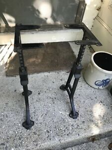 1893 Patent Rare G A Bobrick Cast Iron Industrial Adjustable Table Bench Legs