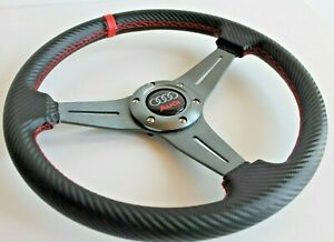 Steering Wheel Audi Racing Carbon Leather Sport 80 90 100 Coupe B4 B5 A4 A3 S Rs