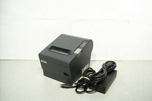 Epson Tm t88iv M129h Thermal Kitchen Pos Printer Idn With Power Supply Tested