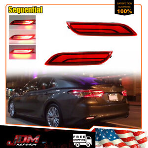 Led Bumper Reflector Tail Brake Turn Signal Lights For 2018 Up Toyota Camry