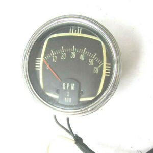 Vintage Mercury Marine Outboard Tachometer 6000 Rpm Tach With Cable Harness