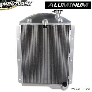 Aluminum Racing Radiator For 1941 1946 Chevy Pickup Truck Small Block Chevy