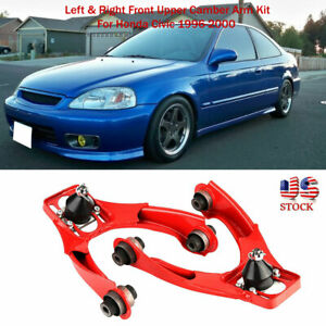 1pair Left right Front Upper Adjustable Camber Arm Kit For Honda Civic 96 00 Us