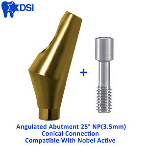 Dsi Dental Implant Conical Connection Np Nobel Active Angulated Abutment 25