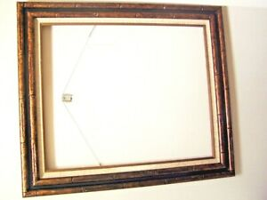 Large 26 X30 Mid Century Wood Faux Bamboo Frame For Painting Art Print Mirror
