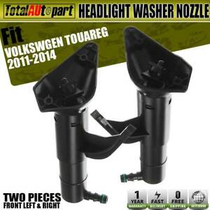2x Headlight Washer Nozzle Ftont Both Sides For Volkswagen Touareg 2011 2014 Suv