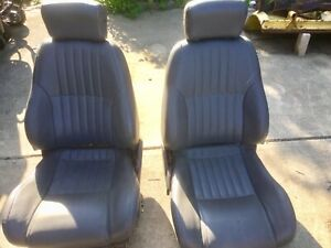 1998 2002 Trans Am Leather Seats Charcoal Gray Factory Front And Rear