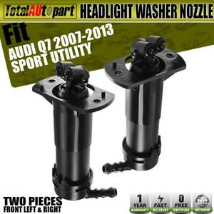 2x Headlight Washer Nozzles Front Both Sides For Audi Q7 2007 2015 Sport Utility