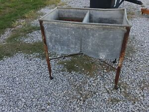 Rare Speed Queen Double Wash Tub Planter Home Sink Nice Tub