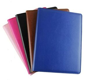 Multifunction Office File Folder A4 Leather Folder Padfolio Organizer Contract