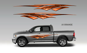 2 Car Truck Trailer Side Decals Graphics Stripes Vinyl a1or