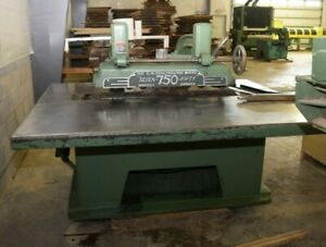 Industrial Gm Diehl Machine Works 750 Straight Line Rip Saw Very Nice Chains