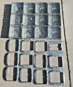 12 steel City 2 gang 4 New Work Square Metal Electrical Box 1 2 In And 3 4