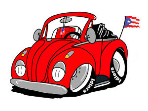 Puerto Rico Flag Sticker Compatible With Vw Beetle And Volkswagen Bandera