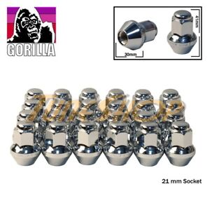 24 Gorilla Large Seat Oem Oe Stock Wheels Lug Nuts 14x1 5 M14 Acorn Rims Chrome