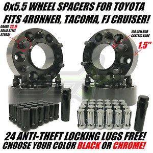 6x5 5 Hub Centric Wheel Spacers For Toyota 4runner Tacoma 1 5 Inch 6x139 7 38mm