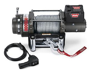 Warn Self Recovery Winch M15000 24v 15k Lbs Pull Capacity 90 Rope Wired Remote