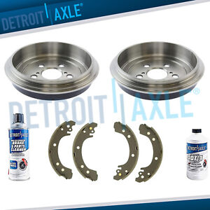 Rear Brake Drums Ceramic Shoes For 2003 2004 2005 2006 2007 2008 Corolla Usa