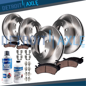 For 2001 2002 Dodge Ram 2500 3500 Front Rear Brake Rotors Ceramic Pads