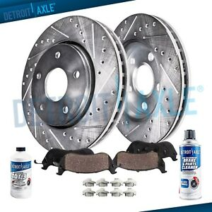 Front Drilled Brake Rotors Ceramic Pads For 2002 2005 2006 Q45 2003 2004 M45