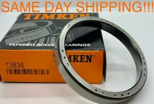 Timken Made In Usa 13836 Tapered Roller Bearing Cup Same Day Shipping