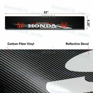 Front Window Windshield Carbon Fiber Vinyl Banner For Honda Racing Decal Sticker