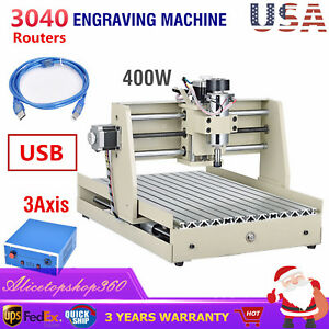 Usb 3axis 3040 Router 3d Engraver Pcb Wood Metal Milling Engraving Drill Machine