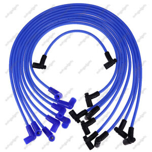 9pcs 8mm High Energy Spark Plug Wires 64602 For Chevy 350 Chevy 400 Sbc 90 Boot