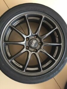 Oz Racing Wheels 18 Hyper Gt Hlt Star Graphite 7 5 Front And 8 Rear 5x120