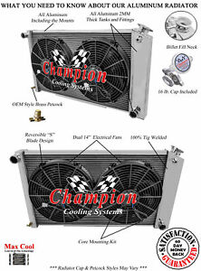 3 Row Dr Radiator 17 X28 14 Fans 1967 1977 Pontiac Grand Prix Manual Trans