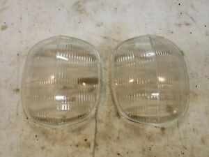 1939 Nash Headlight Lenses Headlamp Riteway 45309 Corcoran Brown Lamp Co 5552