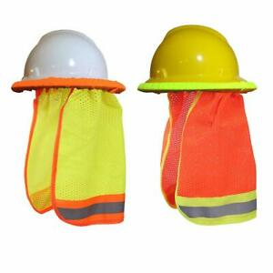 Hard Hat Neck Shade W Reflective Stripe High Visibility One Size Fits All